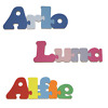 Personalised childrens name wooden