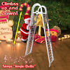 Electric climbing ladder claus doll