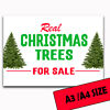 Xmas trees for sale metal sign real