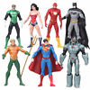 7 pcs dc justice league 7 action