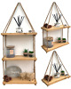 Rustic hanging rope shelf handmade