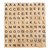 100pcs polished wooden tiles letter
