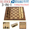 3 in1 folding wooden chess set
