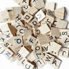 100 pcs bag wooden alphabet tiles