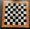 Style chess set ceramic inset board