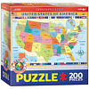 Kids puzzle map of the united