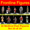 10 toy soldiers foot not mounted