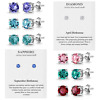 Birthstone earrings crystals from