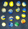 Akro agate patch marbles 16 53 75