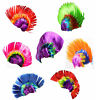 Unisex hair wig mohican punk rock
