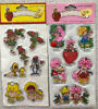 3 80 s puffy stickers
