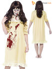 Ladies Zombie Girl Exorcist Demon Child Halloween Fancy Dress Costume Womens