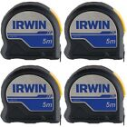 4 x IRWIN ProTouch XP Tape Measures Size 5m Class II Accuracy BULK PACK of 4