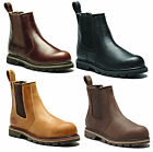 New Mens Dickies Fife Leather Steel Toe Cap Safety Dealer Slip On Work Boots