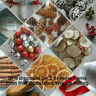 Xmas wreath - decorative items berries, jingle bells, orange, apple, cinnamon