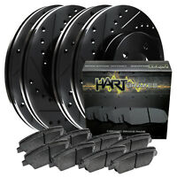 [FULL KIT] BLACK HART DRILLED SLOTTED BRAKE ROTORS AND CERAMIC PAD BHCC.62059.02