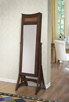 W Unlimited Bedford Classic Long Cheval Mirror Jewelry Cabinet Storage Armoire