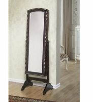 W Unlimited Abby Classic Long Cheval Mirror Jewelry Cabinet Storage Armoire