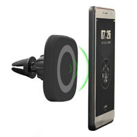 Qi Wireless Car Charger Magnetic Charging Mount Air Outlet Holder for Samsung