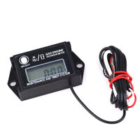 LCD Display Car Go Kart Digital Engine Tachometer Hour Meter w/ Max RPM Recall
