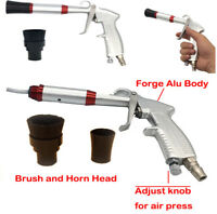 1x Car Dry Wash Gun Air Blow Gun Black& Silver Color For Vechile SUV Cleaning