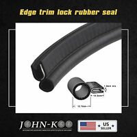 20ft Black Car Seal Edge PVC Strip Trim Trunk Window Door Decorate Weatherstrip