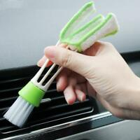 Car Double Head Cleaning Brush Air-condition Outlet Window Detailing Clean Tools