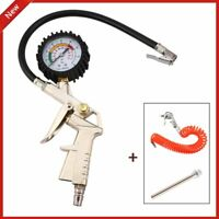 AIR COMPRESSOR RECOIL HOSE LINE TOOL TOOLS TYRE INFLATOR DUSTER GUN 3 PIECE