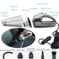 120W Car Vacuum Cleaner Rechargeable Wireless Seat Floor Carpet Dry+Wet Cleaning