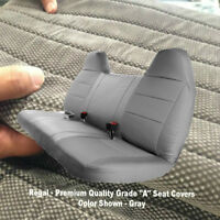 F-Series F23 Automotive 10mm Thick GRAY GREY Bench Seat Cover Molded Headrest