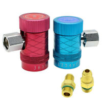 2Pcs Refrigerant Connector Air Conditioner Replacement Adapter fit for R1234yf
