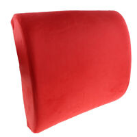 Office Home Computer Gaming Car Chair Lumbar Back Support Pad Pillow Red