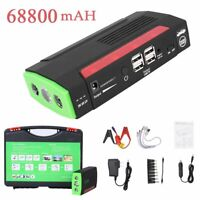 68800 mAh 12V Car Auto Emergency Charger Jump Starter USB Power Bank Booster BE