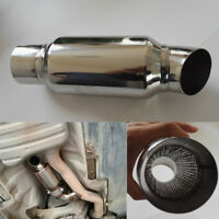 Stainless Steel Car Exhaust Downpipe Branch Sound Tuning Muffler Pipe 2