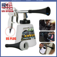 High Pressure Auto Car Air Pulse Cleaning Gun Brush Washer Foam Care Tool Kit US