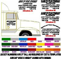 SEMI TRUCK DOOR LETTERING - Your Company Name + Town & State +DOT Number  Decals