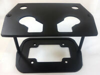 34/78 Black Smooth Top Group Aluminum Optima Battery Tray Chevy Ford Mopar