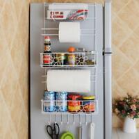Kitchen Supplies Multi-layer Refrigerator Side Shelf Holder with Suction Cups BE