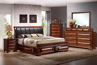 Classic Storage Bedroom Set Queen King or Cal King Platform Bed with Furniture