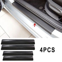 3D Carbon Fiber Door Sill Scuff Car Pedal Protector Car Accessories Sticker