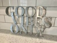 Good Vibes Only metal sign for kitchen home decor wall door art