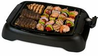 SIG-1 Contact Grills Indoor Smokeless BBQ Grill, Black Electric Griddles Kitchen