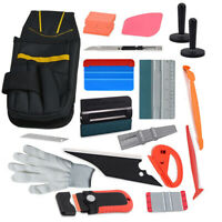 Car Vinyl Wrap Kit Tools Pouch Ruler Squeegee Tool Bag Wrapping Gasket 10 Blades