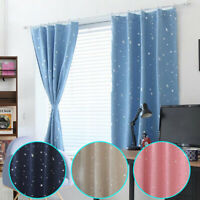 1pc Stars Curtain Drapes For Home Living Room Bedrooms Window Blinds Supplies