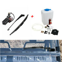12V Windshield Washer Bottle+Electric Windshield Wiper for Polaris RZR Can Am X3