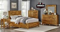 Solid Wood Bedroom Set Furniture Queen or King With Optional Storage Drawers