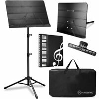 Music Stand, Professional Sheet Music Stand with Clip Holder, Carrying Bag