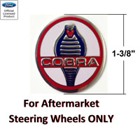 Classic Snake Steering Wheel Horn Button Insert Decal For Shelby Cobra - 1 3/8
