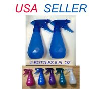 2 Spray Bottles 8oz ea Compact Reusable Beauty Room Freshener Cleaning Supplies