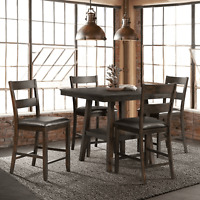 *New* Picket House Furnishings Reid 5-Pc. Counter Height Dining Set -Dark Walnut